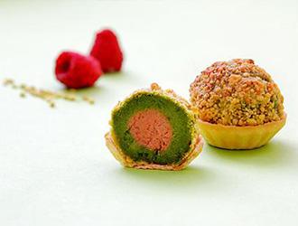 木苺とピスタチオの焼モンブラン